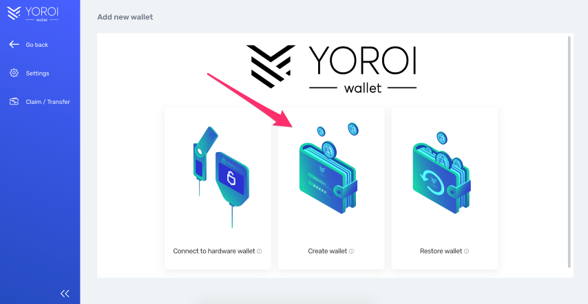 yoroi_create_wallet