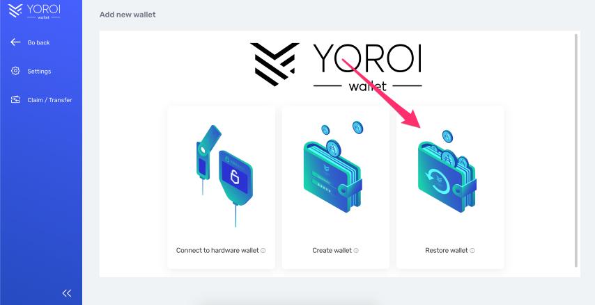 yoroi_restore_wallet